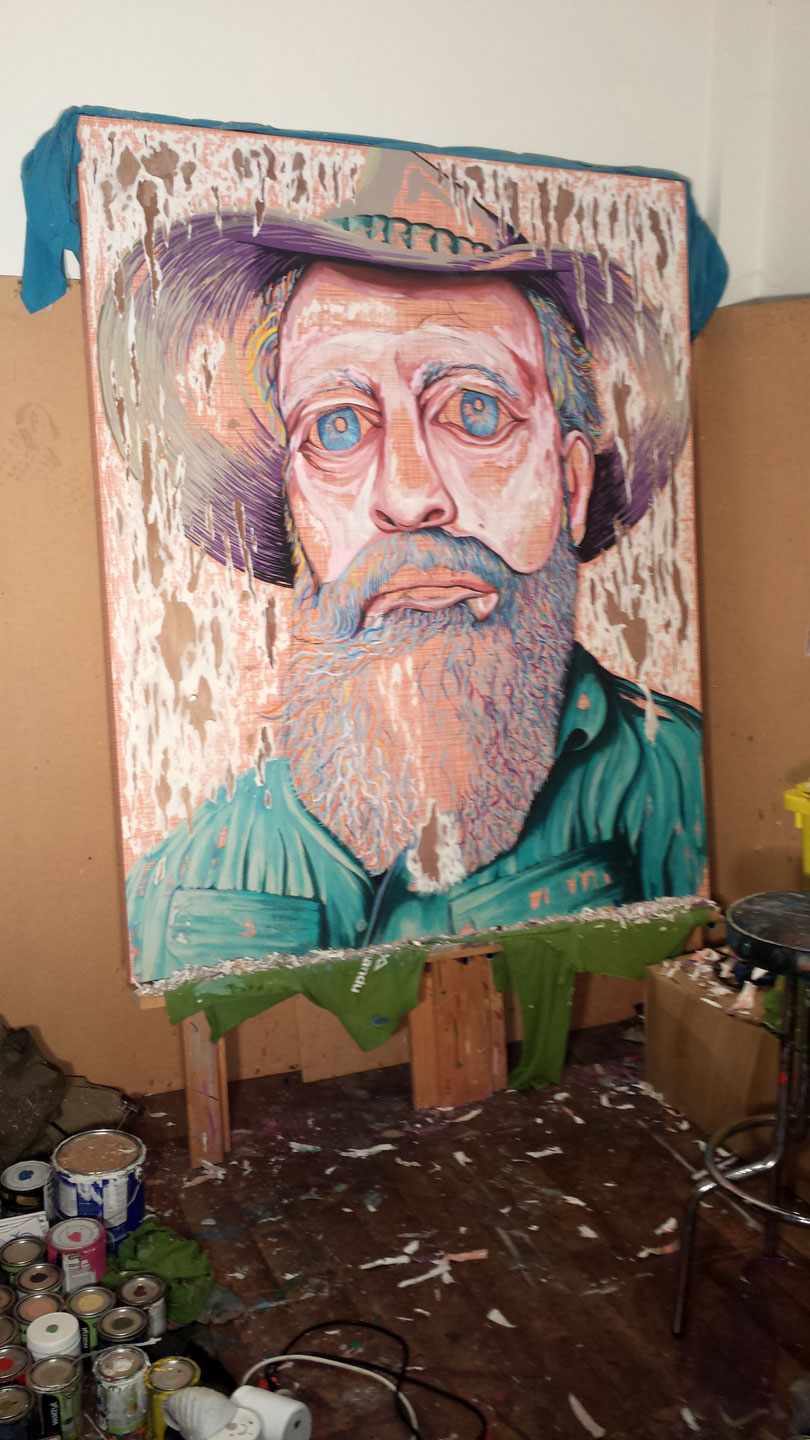 BEGINNINGS OF 'HAT FITZ - BEARDED BLUES' FINISHED