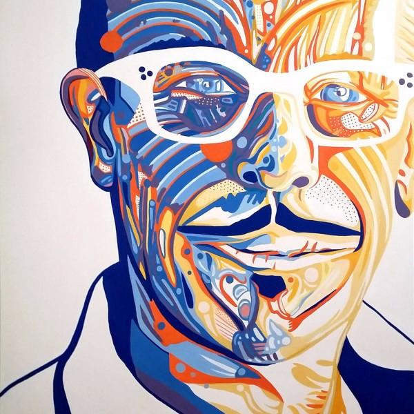 INXS KIRK PENGILLY PORTRAIT-1 Artist Darren Trebilco - Solitude Art Gallery