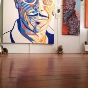 INXS KIRK PENGILLY PORTRAIT-1 Artist Darren Trebilco - Showing at the Solitude Art Gallery
