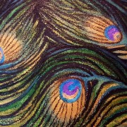DARREN TREBILCO - THE VISITOR - FEATHER DETAIL - SOLITUDE ART GALLERY - 163 Glenview Road Glenview QLD 4553