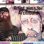 GC Newspaper Front Cover Archibald Article 18th June 2014 Darren Trebilco