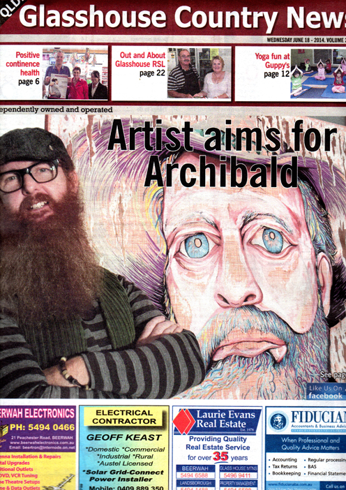 Artist aims for Archibald