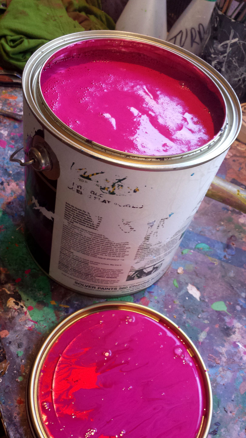 HOT PINK PAINT SOLITUDE ART GALLERY