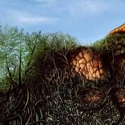 Kirk Pengilly - Portrait 2 Artist Darren Trebilco tree line