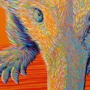 LORETTA by Sunshine Coast Artist Darren Trebilco - Detail of face