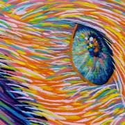 LORETTA by Sunshine Coast Artist Darren Trebilco - Detail of Left eye