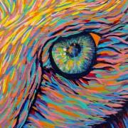 LORETTA by Sunshine Coast Artist Darren Trebilco - Detail of right eye