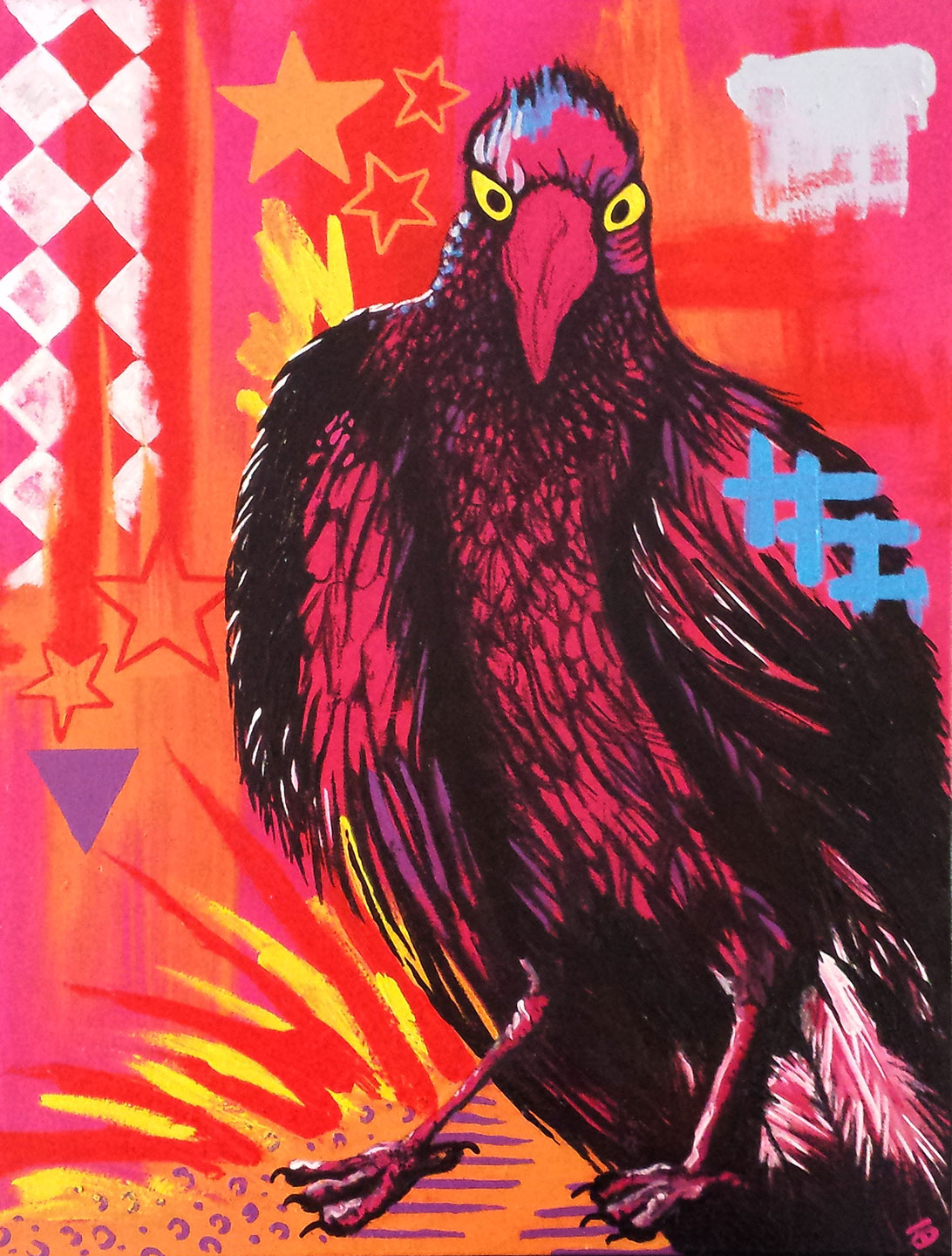 MAXIMUS BY SUNSHINE COAST DYNAMIC ARTIST DARREN TREBILCO FROM THE SOLITUDE ART GALLERY
