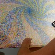 MOMENTUM - Artist Darren Trebilco working on the final detail