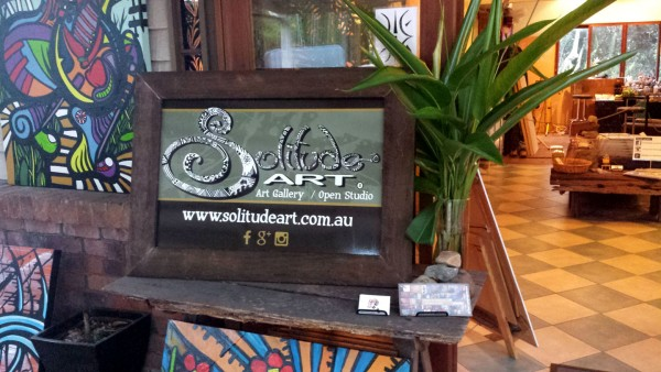 New entrance sign for the Solitude Art Gallery...