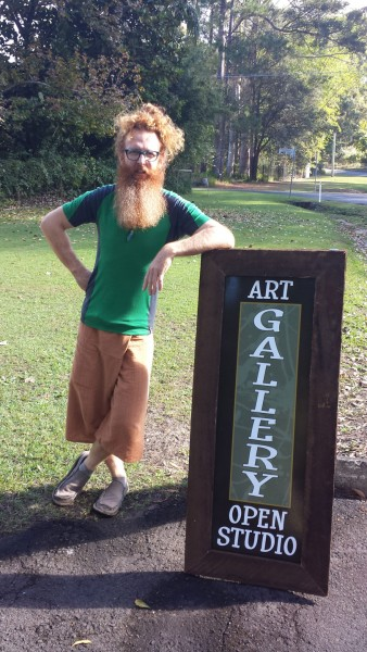 Keep a look out for the new road sign for the Solitude Art Gallery...Artist Darren Trebilco is not included!
