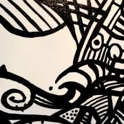 SUNKEN TREASURE UPCLOSE DETAIL AT THE SOLITUDE ART GALLERY