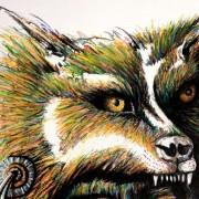 THUNDER CLOUD- Artist Darren Trebilco- wolf head - Solitude Art Gallery 163 Glenview Road Glenview Queensland Australia www.solitudeart.com.au