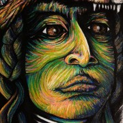THUNDER CLOUD- Artist Darren Trebilco- warrior eyes - Solitude Art Gallery 163 Glenview Road Glenview Queensland Australia www.solitudeart.com.au