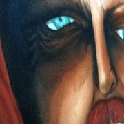 Darren Trebilco Painting - Acceptance detail
