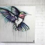 Darren Trebilco Painting - Bleeding Heart