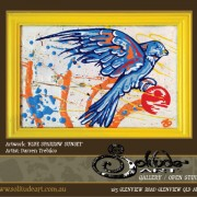 Blue Sparrow Sunset - Darren Trebilco Artist Sunshine Coast