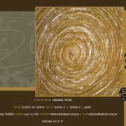 Darren Trebilco Painting - Caramel Swirl