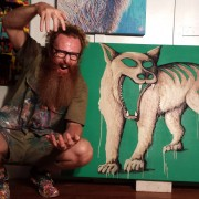 Enigma - Darren Trebilco Artist Getting his Tassie Tiger on